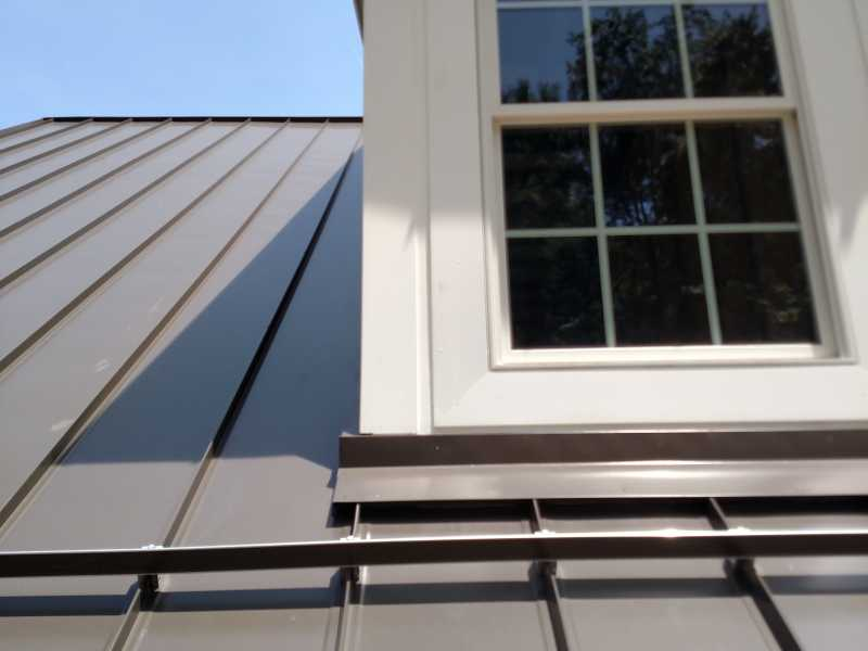 NIM Burnished Slate Standing Seam roof with SOLID BAR ice guards